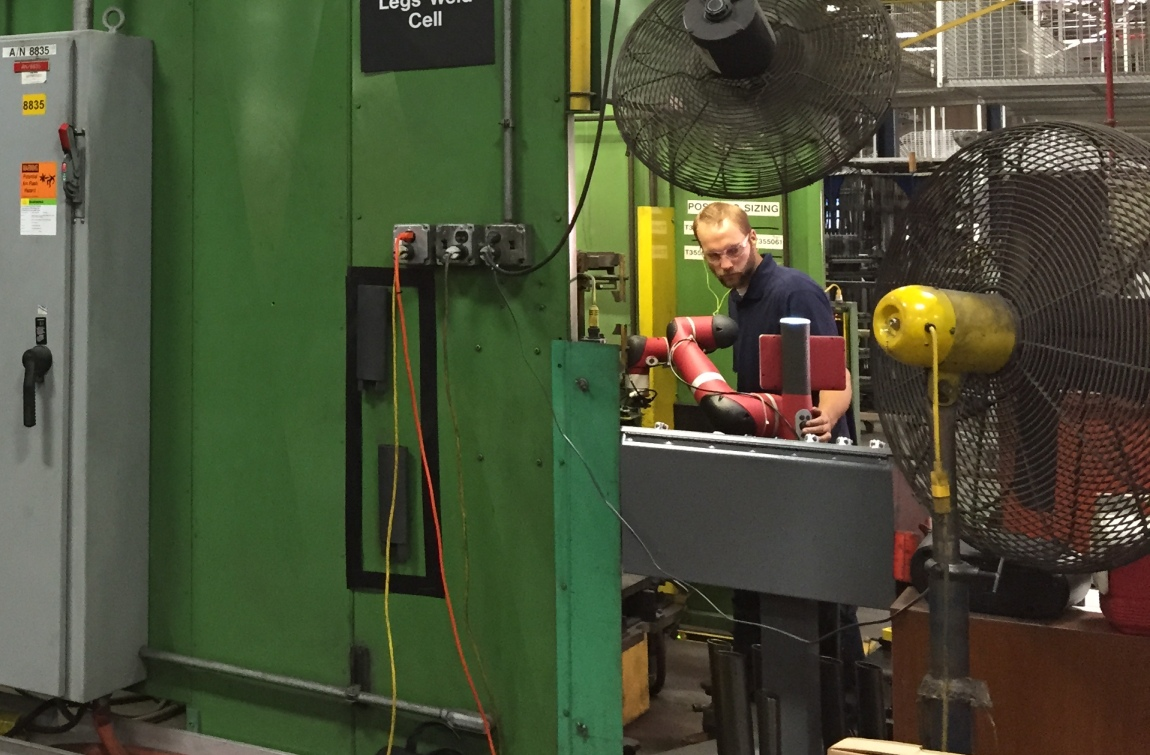 Collaborative robots work hand in hand with human co-workers, making manufacturing jobs more appealing.