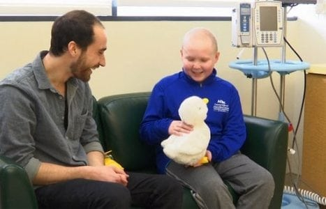 Robot duck's aim: Helps kids with cancer via power of play | Robotics