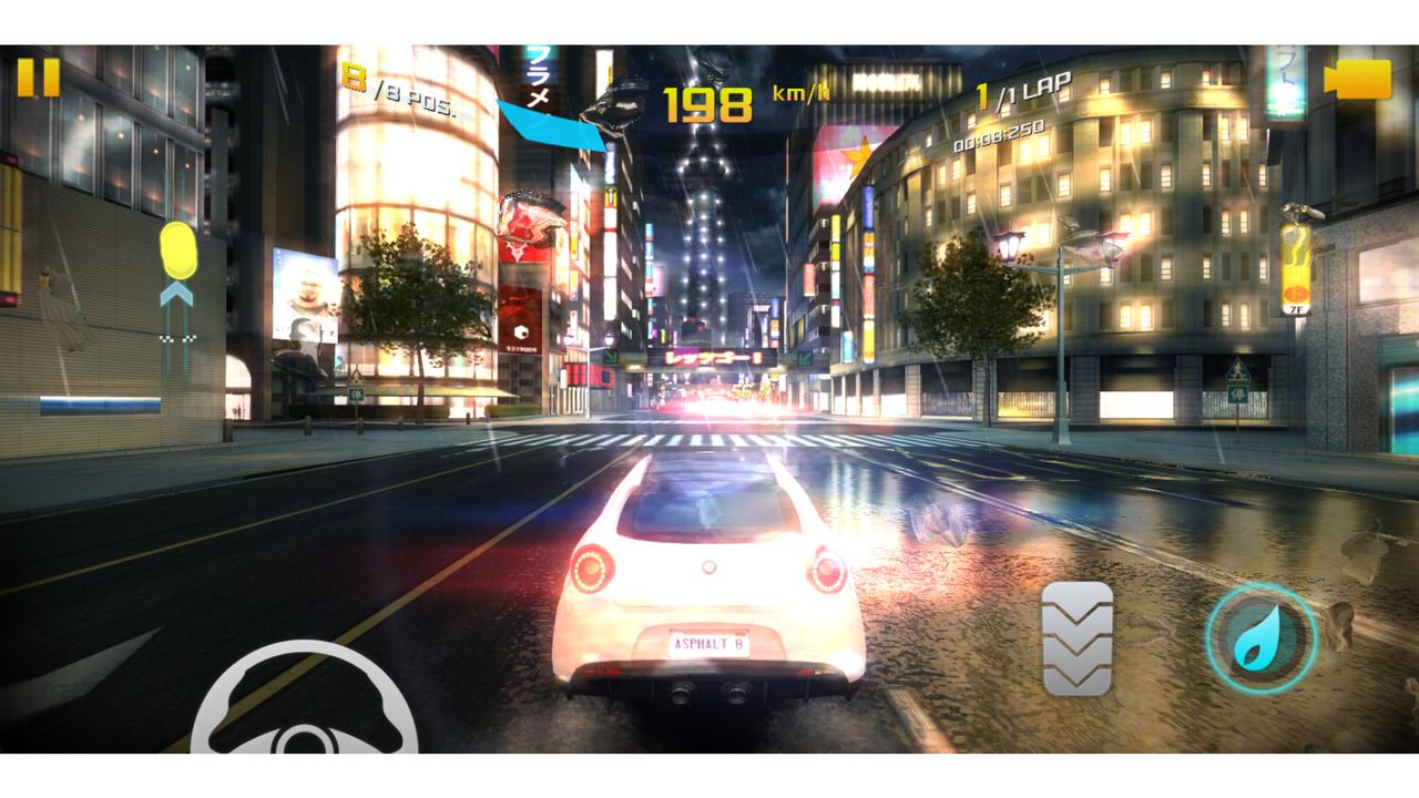 Asphalt 8: Airborne on the Moto G6 ran on the maximum graphic setting with ease.