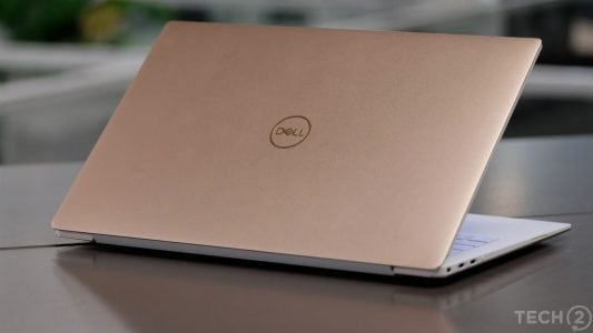 The XPS 13 model I received for testing came in a combination of Rose Gold and Alpine White.