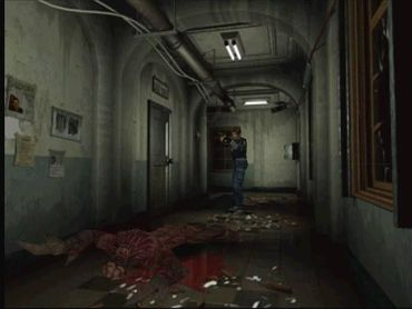Leon S Kennedy takes out a Licker -- one of the game's most memorable monsters -- in the original version of Resident Evil 2.