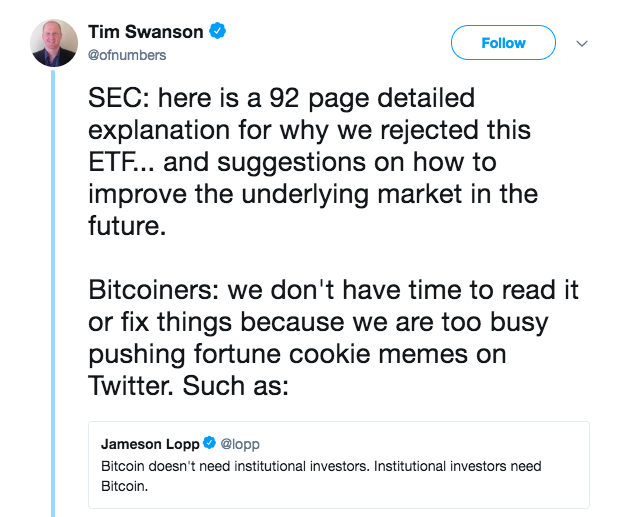 Rejection Aside, Calls for a Bitcoin ETF Are Only Escalating | Crypto 4