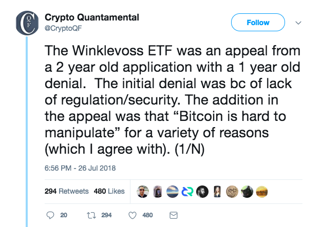 Rejection Aside, Calls for a Bitcoin ETF Are Only Escalating | Crypto 7