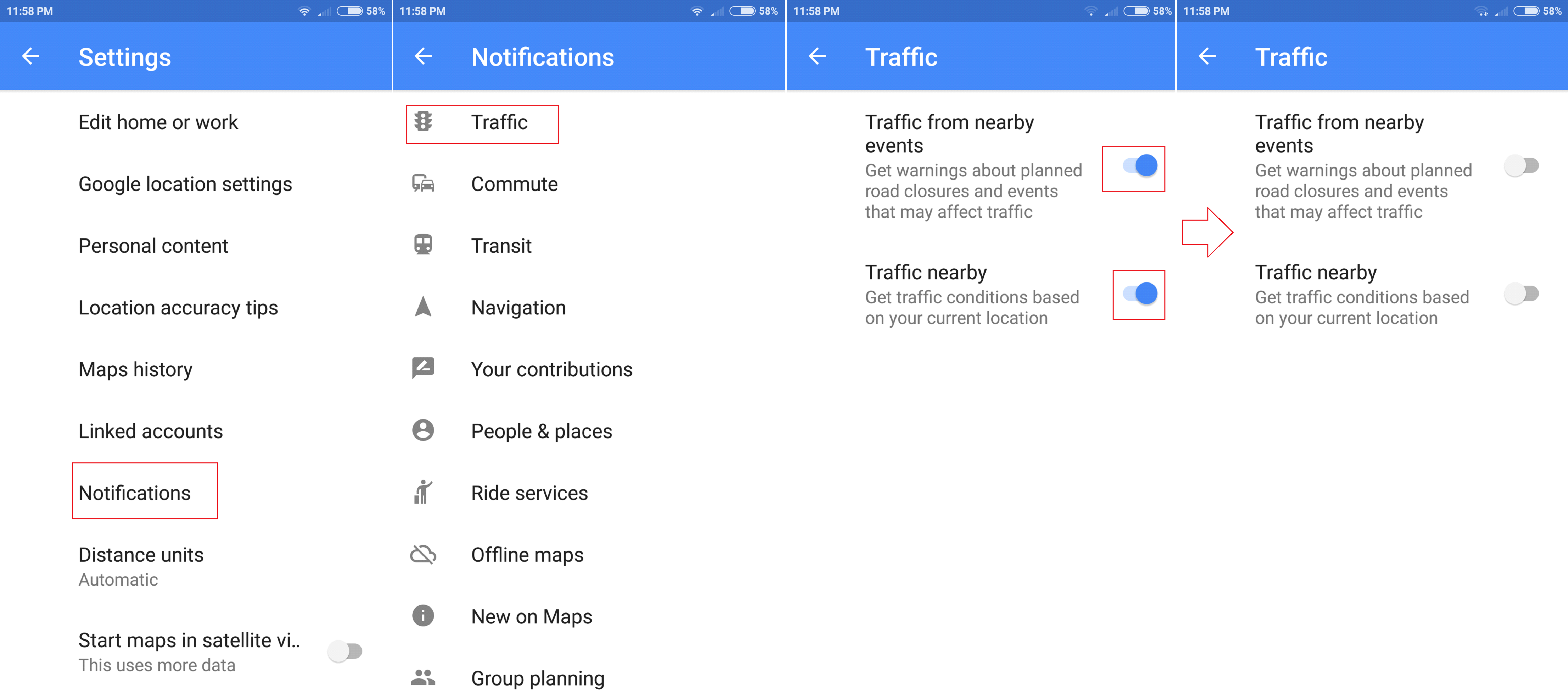 How To Disable Traffic Notifications (Android)   Tips & tricks 2