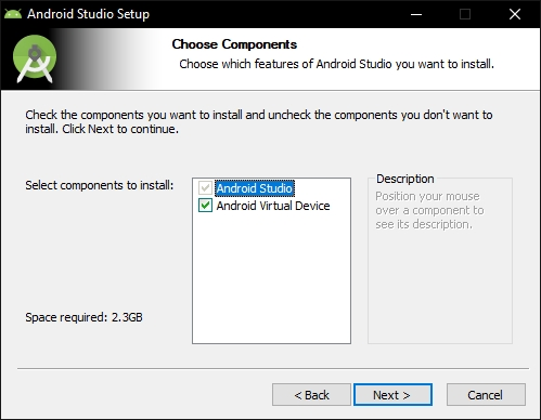 android studio virtual device