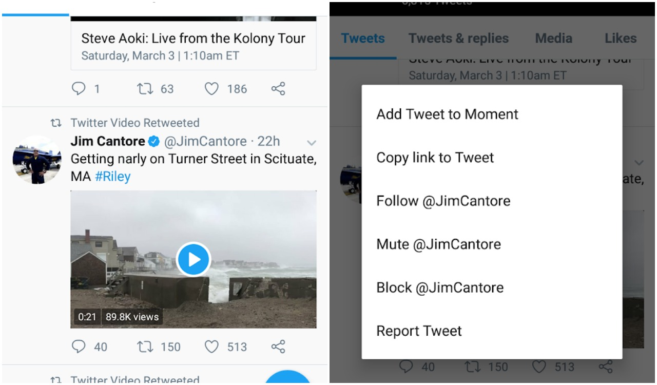 how to save videos from Twitter