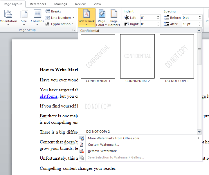 add-a-watermark-to-a-word-document-samples