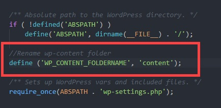 rename-wp-content-folder-add-first-code-block