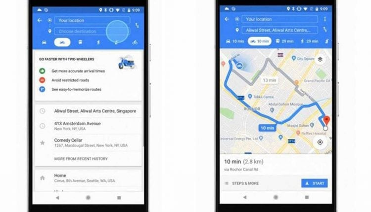 Google Maps expands motorcycle mode to Singapore, Thailand, Vietnam, and other Asian markets   Apps & Software