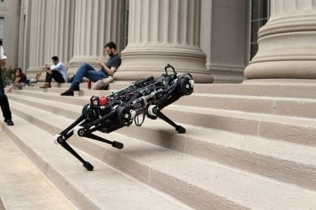 """""""Blind"""" Cheetah 3 robot can climb stairs littered with obstacles   Robotics News"""