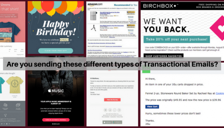 Are you sending these different types of Transactional Emails? | Digital Asia