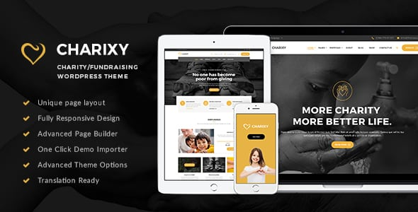 Charixy – Charity/Fundraising WordPress Theme