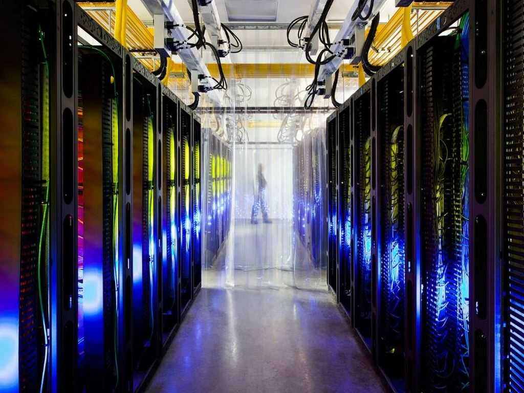 Servers inside a Google data centre. Image: Google