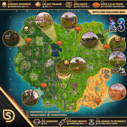 fortnite clay pigeon map