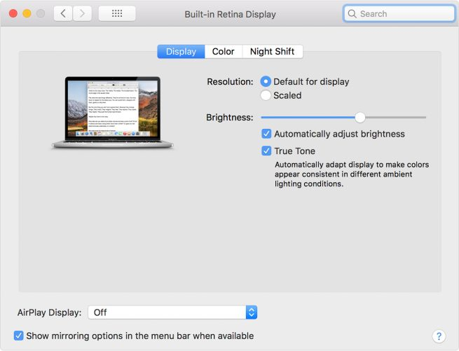 New MacBook Pro True Tone feature works with LG UltraFine, Thunderbolt displays | Computing 1