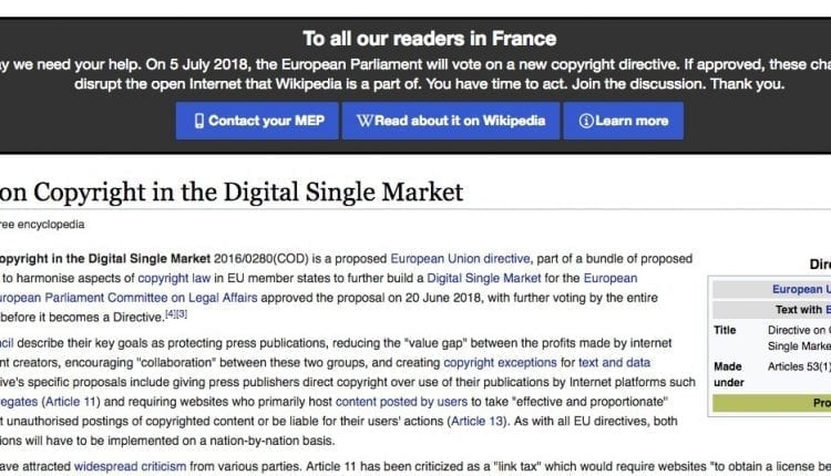 EU Parliament set to vote on copyright bill that's causing a massive freak-out across the web   Tech Industry