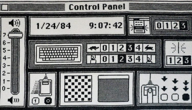 An Apple fan took six months to cross-stitch the original Mac's Control Panel | Computing