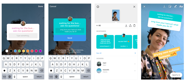Instagram continues to promote Stories interactivity with new Q&A widget | Industry News