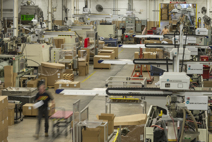 The Rodon Group, a plastics manufacturer in Pennsylvania, has implemented various types of automation on the factory floor, such as collaborative robots.