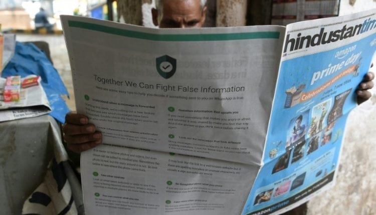 WhatsApp offers tips to spot fake news after India murders | Computing