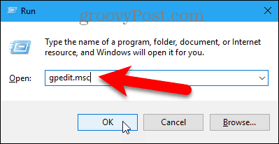 Open the Local Group Policy Editor