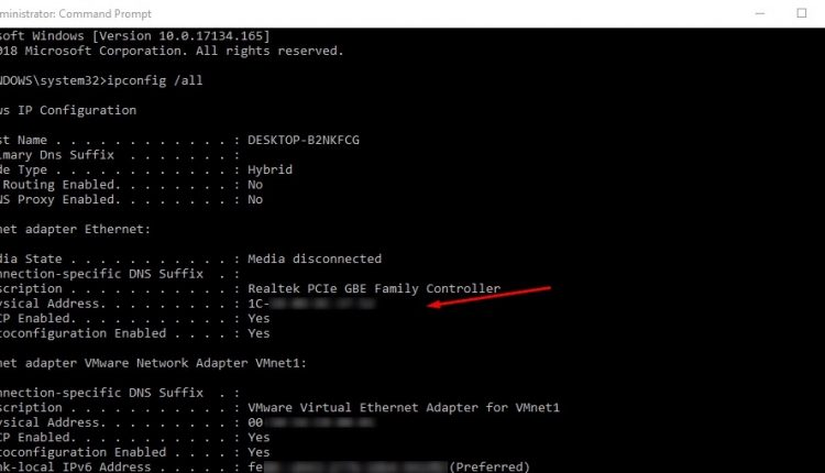 How To Find Your Network MAC Address (Windows 10) | Tips & tricks