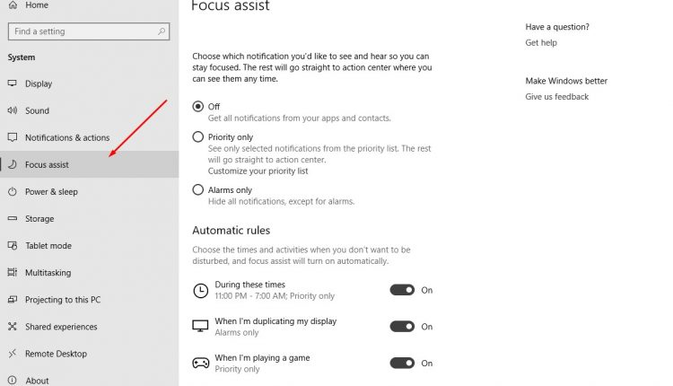 How To Use Focus Assist In Windows 10 | Tips & tricks