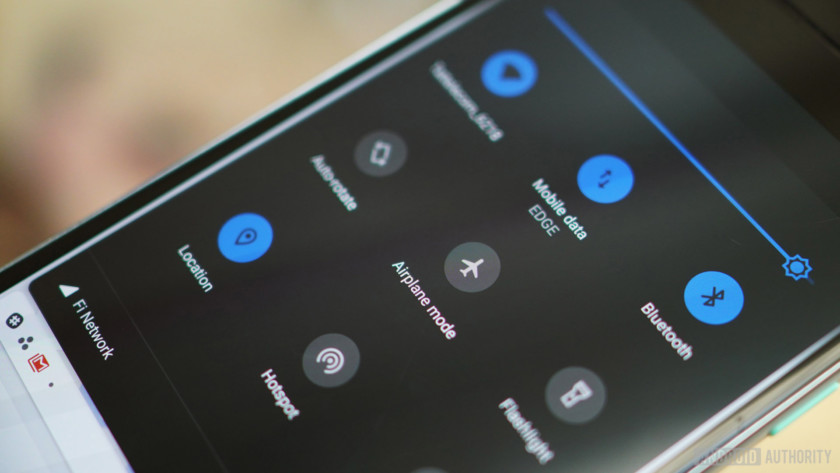 Android 9 Pie review Quick Settings dark mode