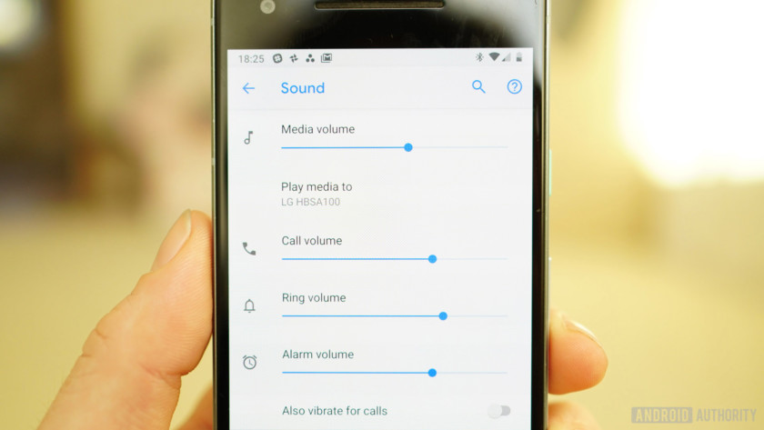 Android 9 Pie review volume settings
