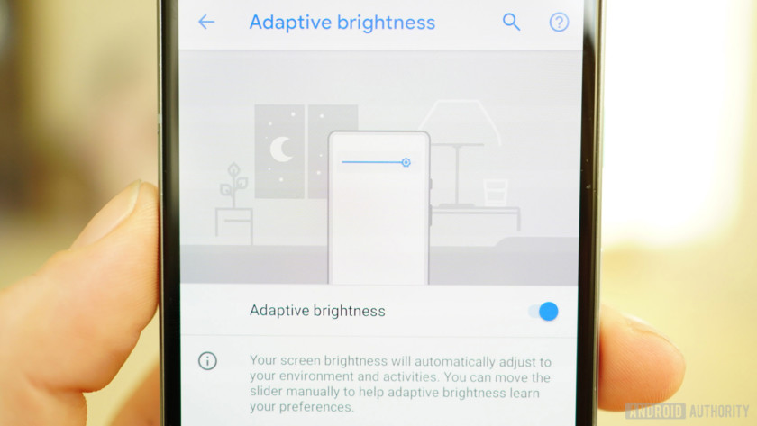 Android 9 Pie review Adaptive Brightness