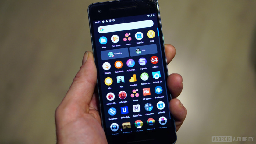 Android 9 Pie review app drawer