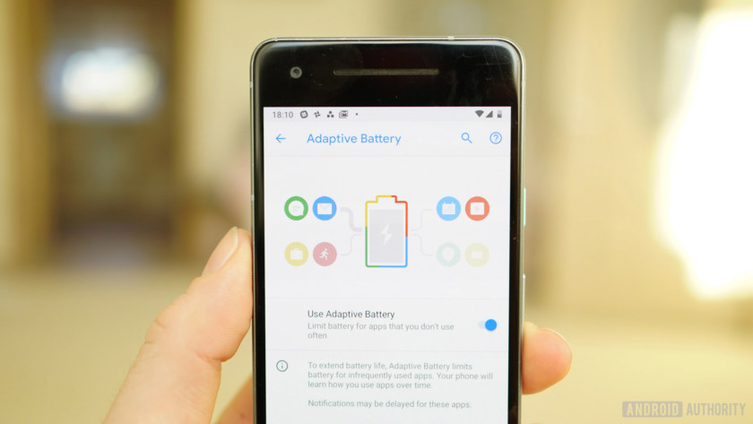Android 9 Pie review Adaptive Battery