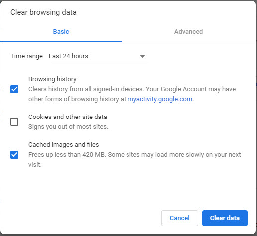 Chrome-Clear-Browsing-Data