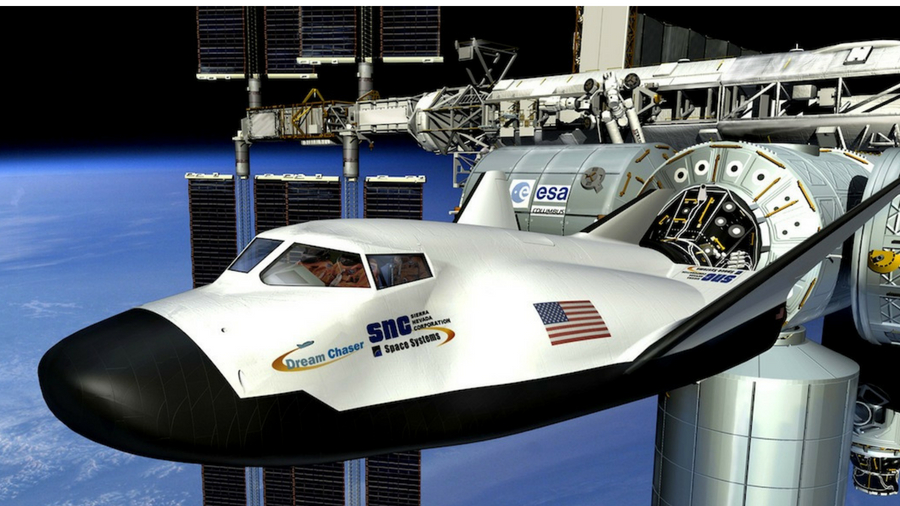 Image of SNC's Dream Chaser spacecraft
