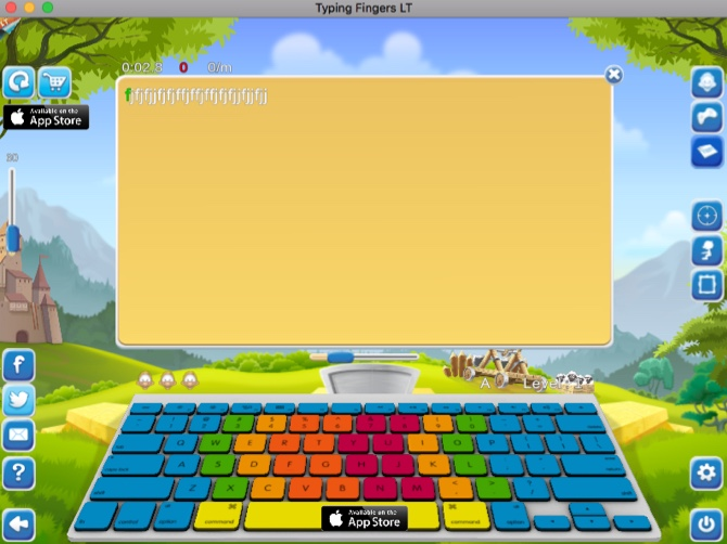 Typing Fingers LT Typing App for Mac