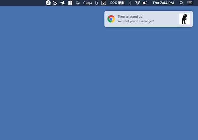 11 Chrome Extensions That Help You Stay Healthy at a Desk Job stretch reminder screenshot