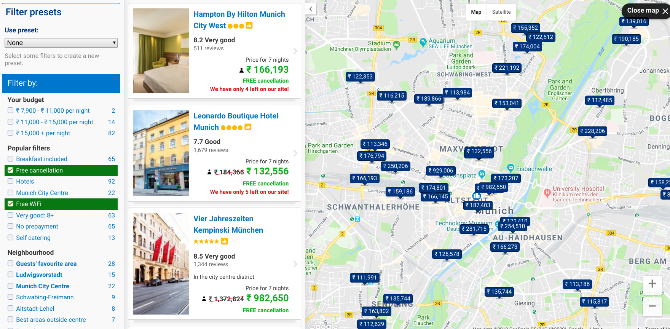 Booking.com - Map View