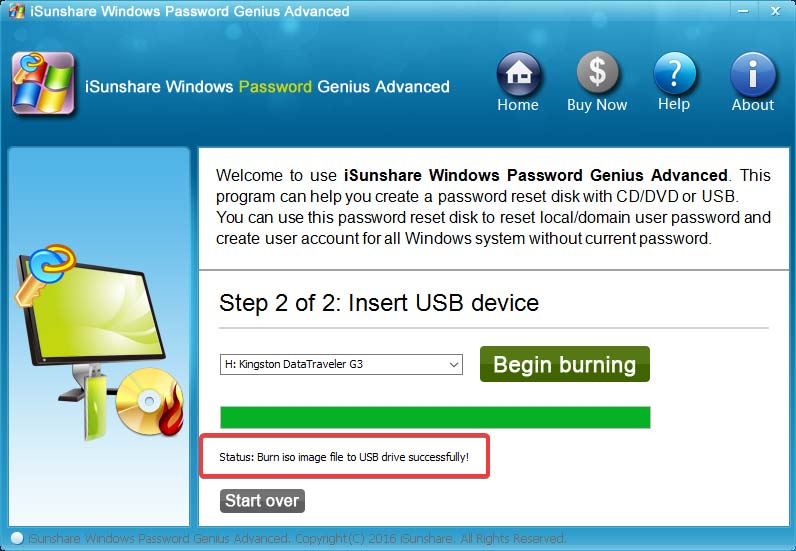 isunshare-password-genius-bootable-usb-created