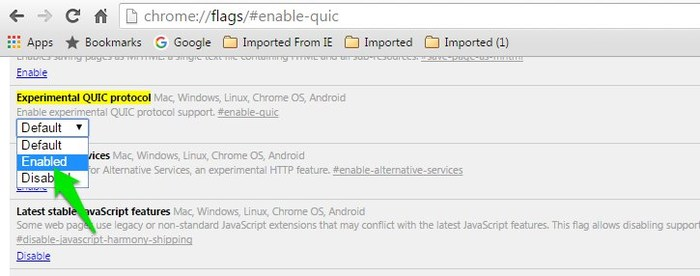 Chrome-Flags-Experimental-QUIC-Protocol