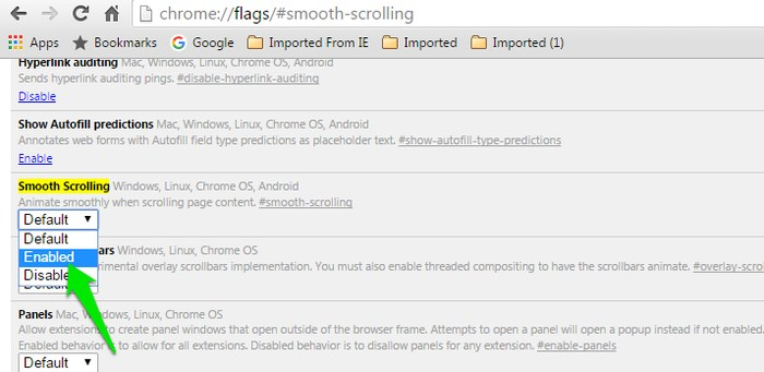 Chrome-Flags-Smooth-Scrolling