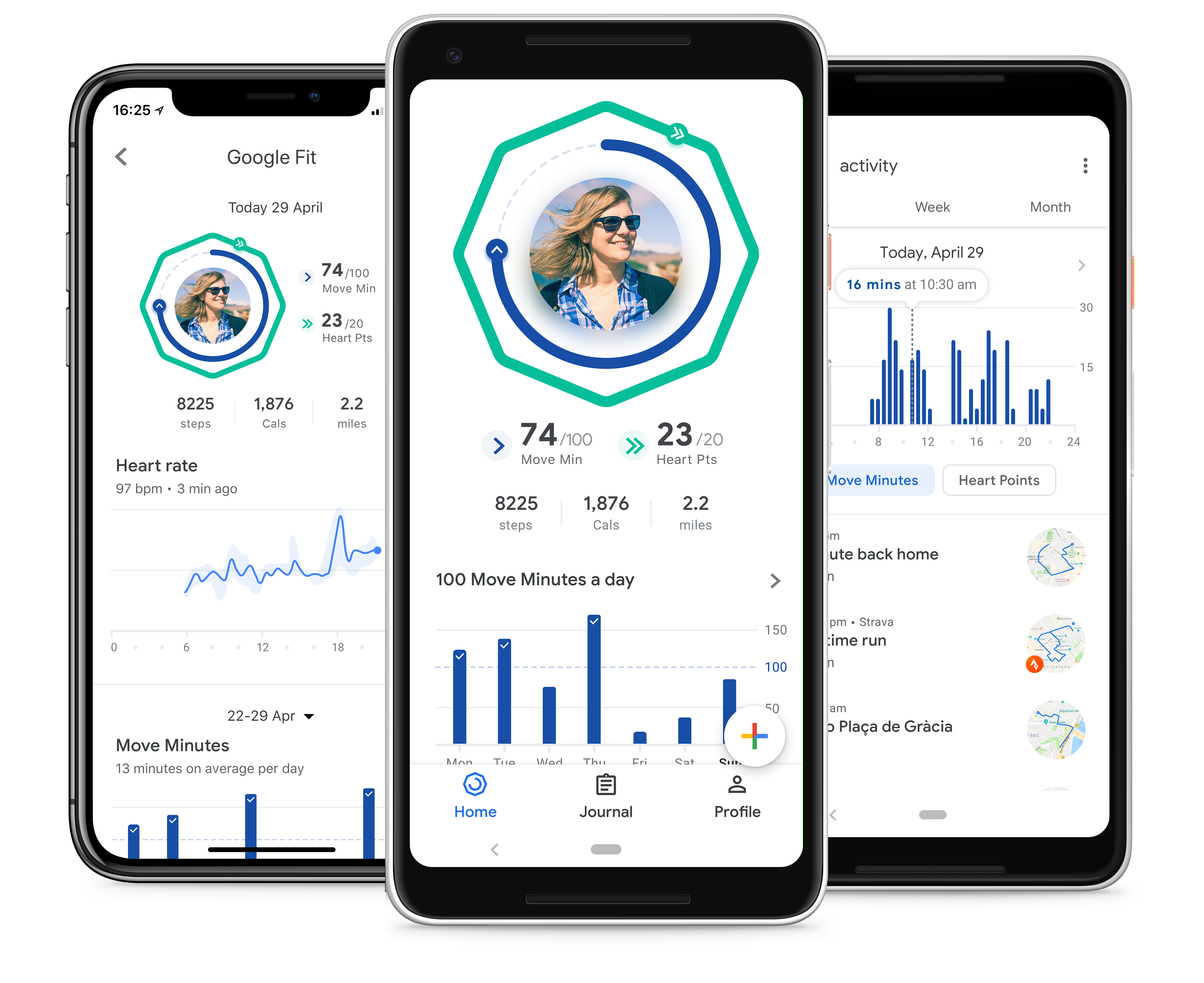 Google Fit gets a redesign, adds Heart Points and coaching   Apple 2
