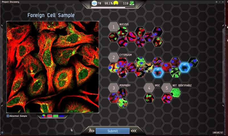 Mapping of cells and proteins improved with combined help of gamers and AI