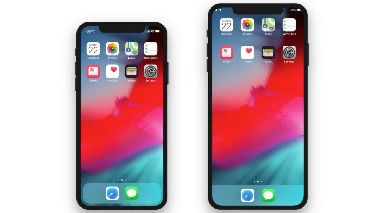 iPhone X comapred to an iPhone X Plus. image iHelpBR