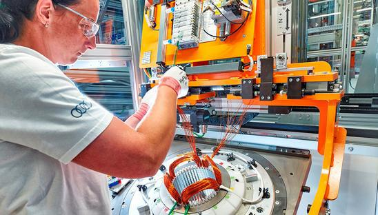 Audi starts series production of electric motors in Hungary | Robotics
