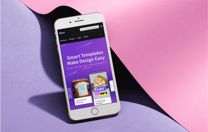 Create Beautiful Mockups in Minutes With Placeit iPhone Hero Image Placeit Post 670x425