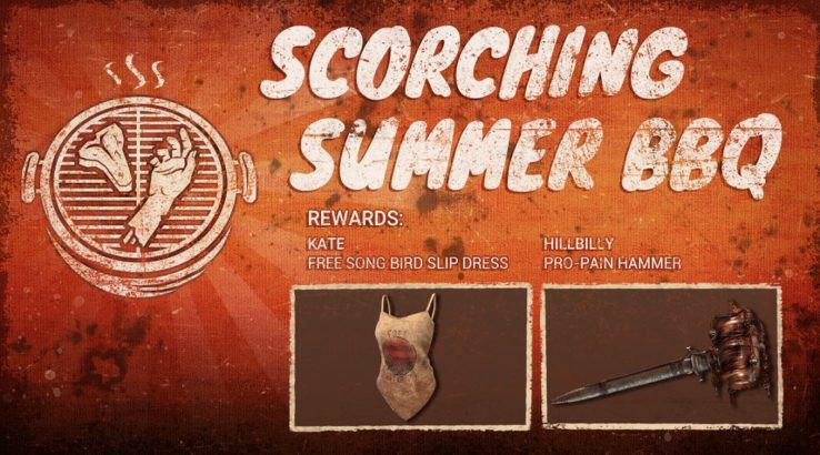 dead by daylight scorching summer bbq event cosmetic rewards