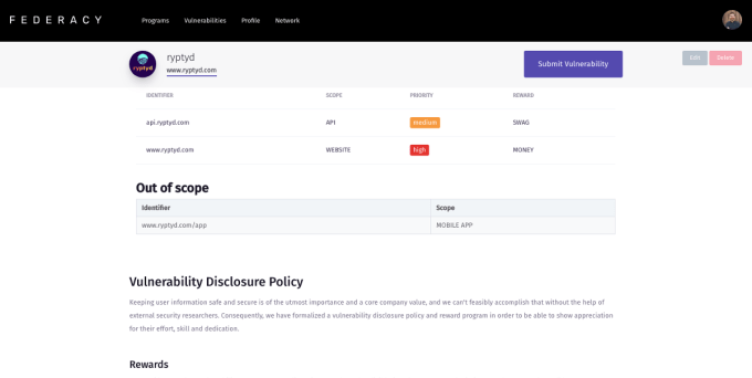 Federacy wants to put bug bounty programs in reach of every startup | Startup