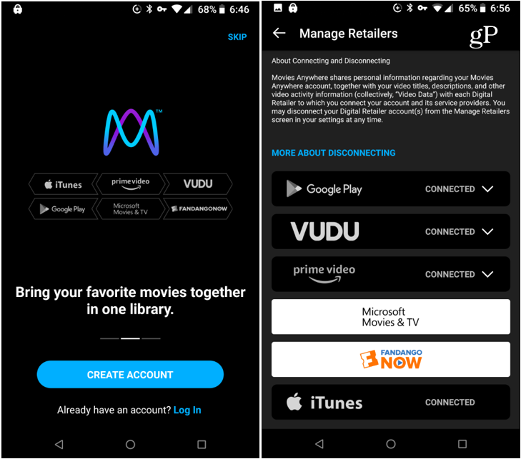 Movies Anywhere Android App