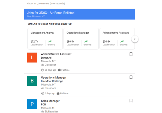 Google launches search feature to help military veterans find jobs | Industry