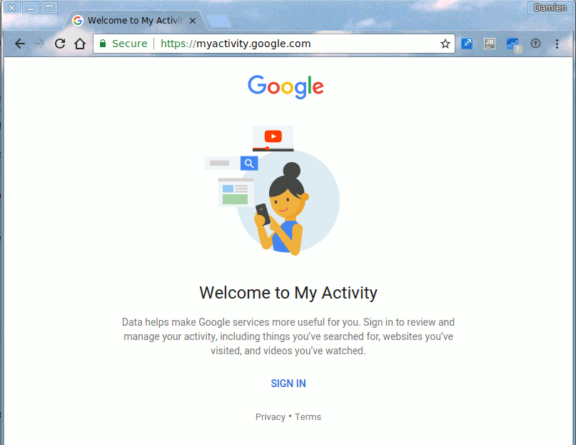 google-activity-page